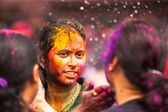 KUALA LUMPUR, MALAYSIA - MAR 31: celebrated Holi Festival of Colors, Mar 31, 2013 in Kuala Lumpur, Malaysia. Holi, marks the arrival of spring, being one of the biggest festivals in Asia. — Stockfoto