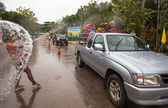 KO CHANG, THAILAND - APR 13: celebrated Songkran Festival, on 13 Apr 2013 on Ko Chang, Thailand. Songkran is celebrated in Thailand as the traditional New Year's Day from 13 to 16 April. — Stock Photo