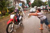 KO CHANG, THAILAND - APR 13: celebrated Songkran Festival, on 13 Apr 2013 on Ko Chang, Thailand — Stock Photo