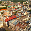 Ukraine. Lviv bird's-eye view of from of the City Hall.  — Stock Photo