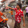 KO CHANG, THAILAND - APR 13: celebrated Songkran Festival, on 13 Apr 2013 on Ko Chang, Thailand. Songkran is celebrated in Thailand as the traditional New Year's Day from 13 to 16 April. — Stock Photo #24688893