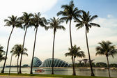 SINGAPORE - APRIL 15: A view of city in Marina Bay business district on April 15, 2012 on Singapore. — Stock Photo