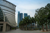SINGAPORE - APRIL 15: A view of city in Marina Bay business district on April 15, 2012 on Singapore. — Foto Stock