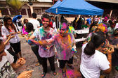 KUALA LUMPUR, MALAYSIA - MAR 31: celebrated Holi Festival of Colors, Mar 31, 2013 in Kuala Lumpur, Malaysia. Holi, marks the arrival of spring, being one of the biggest festivals in Asia. — Stok fotoğraf