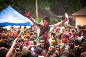KUALA LUMPUR, MALAYSIA - MAR 31: celebrated Holi Festival of Colors, Mar 31, 2013 in Kuala Lumpur, Malaysia. Holi, marks the arrival of spring, being one of the biggest festivals in Asia. — ストック写真