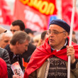 MOSCOW - MAY 1: Communist party supporters take part in a rally marking the May Day, May 1, 2013 in Moscow, Russia — Stock Photo