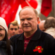Постер, плакат: MOSCOW MAY 1: Gennady Zyuganov is a Russian politician First Secretary of the Communist Party of the Russian Federation during procession of May Day on May 1 2013 in Moscow Russia