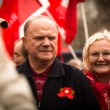 MOSCOW - MAY 1: Gennady Zyuganov (is a Russian politician, First Secretary of the Communist Party of the Russian Federation) during procession of May Day on May 1, 2013 in Moscow, Russia - ストック写真