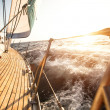 Stock Photo: Sailing regattin AegeSea
