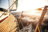 Sailing regatta in the Aegean Sea — Stock Photo
