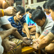 Stock Photo: Traditional Yantrtattooing in Thailand