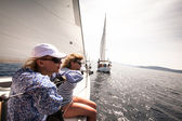 Sailing regatta in Greece — ストック写真