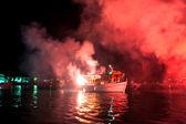 The ritual burning of Judas Iscariot in Greece — Stock Photo