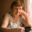 Stock Photo: Portrait of elderly woman