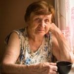 yaşlı bir kadın portresi — Stok fotoğraf