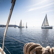 Sailing regatta on Greece — Stock Photo