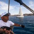 Sailing regatta on Greece — 图库照片