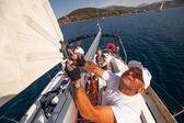 Sailing regatta on Greece — ストック写真