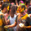 Holi Festival of Colors in Malaysia — Stock Photo