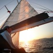 Stock Photo: Sailing regattin Greece