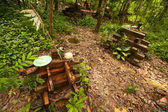 Orang asli village i malaysia — Stockfoto
