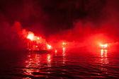 Ritual burning of Judas Iscariot in Greece — Stock Photo