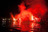 Ritual de queima de judas iscariotes na grécia — Fotografia Stock
