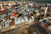 Top view from Lviv City Hall — 图库照片