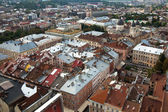 Top view from Lviv City Hall — Foto de Stock