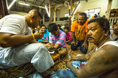 Yantra tattooing in Thailand — Stock Photo