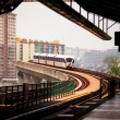 Stock Photo: Monorail train in KualLumpur, Malaysia
