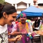 Holi Festival of Colors in Kuala Lumpur, Malaysia — Stock Photo #25971699