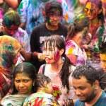 Holi Festival of Colors in Kuala Lumpur, Malaysia — Stock Photo