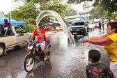 Songkran Festival in Thailand — Stock Photo