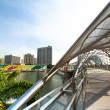A view of city in Marina Bay business district on Singapore. — Stock Photo