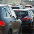 Cars stands in traffic jam — Foto Stock #26855121