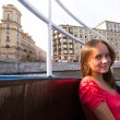 On boat along channels St. Petersburg, Russia — Stockfoto