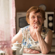 Stock Photo: Portrait elderly woman.