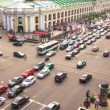 Top view of the Metro and mall Gostiny Dvor on Nevsky Prospect — Stockvideo