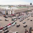 Top view of the Metro and mall Gostiny Dvor on Nevsky Prospect — Stock Video #27502493