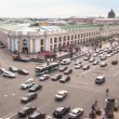 Top view of the Metro and mall Gostiny Dvor on Nevsky Prospect — Stock Video #27504459