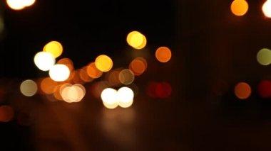Night street, abstract. Blurred big City Lights — Stock Video #27501333