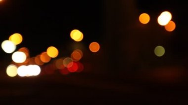 Night street, abstract. Blurred big City Lights — 图库视频影像 #27501629