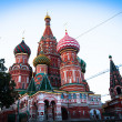 St Basil's Cathedral in Red Square on Moscow — Foto Stock