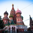 St Basil's Cathedral in Red Square on Moscow — 图库照片