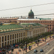 ST.PETERSBURG, RUSSIA - JUN 26: Top view of the Metro and mall Gostiny Dvor on Nevsky Prospect, Jun 26, 2013, SPb, Russia. Station opened on 1967, is one of busiest stations in the entire SPb Metro. — ストック写真