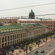 ST.PETERSBURG, RUSSIA - JUN 26: Top view of the Metro and mall Gostiny Dvor on Nevsky Prospect, Jun 26, 2013, SPb, Russia. Station opened on 1967, is one of busiest stations in the entire SPb Metro. — Stok fotoğraf