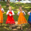 Stock Photo: TERVENICHI, RUSSI- JUL 7: Local people celebrated IvKupalDay, Jul 7, 2013, Tervenichi, Russia. celebration relates to summer solstice and includes number of fascinating Pagrituals.