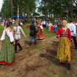 TERVENICHI, RUSSIA - JUL 7: Local people celebrated Ivan Kupala Day, Jul 7, 2013, Tervenichi, Russia. The celebration relates to the summer solstice and includes a number of fascinating Pagan rituals. — ストック写真