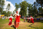 TERVENICHI, RUSSIA - JUL 7: Local people celebrated Ivan Kupala Day, Jul 7, 2013, Tervenichi, Russia. The celebration relates to the summer solstice and includes a number of fascinating Pagan rituals. — Stock Photo